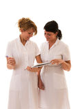 Two nurses working Stock Image