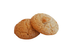 Two nut cookies Royalty Free Stock Photo