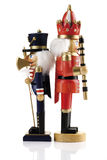 Two nutcrackers back-to-back Royalty Free Stock Photos