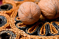 Two nuts background Royalty Free Stock Photos