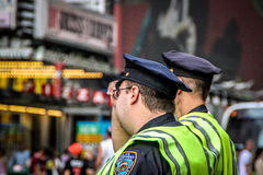 Two NYPD Patrol officers in Times Square, New York Stock Image
