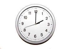 Two o`clock. Wall clock isolated on white and signing the two o clock hour - part of 12 hours series Royalty Free Stock Photo