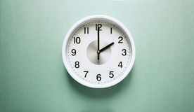 Two o`clock. Wall clock shows time two o`clock royalty free stock photo