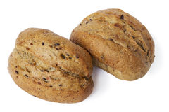 Two oatmeal buns Royalty Free Stock Photo