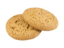 Two oatmeal cookies Stock Image