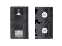Two obsolete video tapes Stock Photo