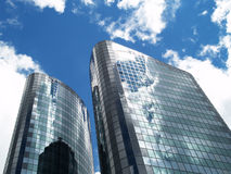 Two office buildings Royalty Free Stock Photos