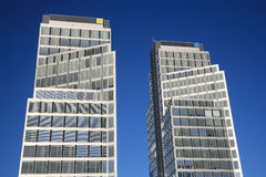 Two office buildings Royalty Free Stock Image