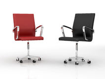 Two office chairs Stock Images