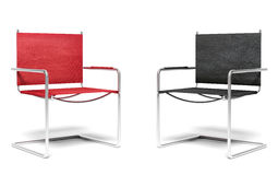 Two office chairs. Business concept royalty free stock image