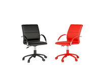 Two office chairs. The concept of dialogue vector illustration