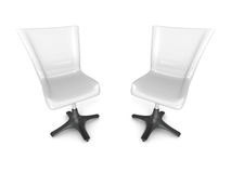Two office chairs on white background Royalty Free Stock Photography