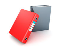 Two office folders ring binders on white Royalty Free Stock Photography