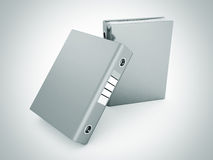 Two office folders ring binders on white Royalty Free Stock Image
