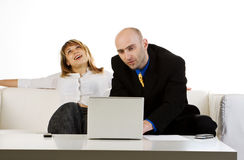 Two Office Workers royalty free stock image