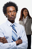 Two office workers Stock Images