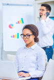 Two office workers in conference room Stock Photography
