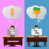 Two office workers ideas Stock Images