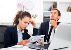 Two office workers made a mistake Royalty Free Stock Photography