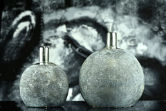 Two oil lamps Royalty Free Stock Images