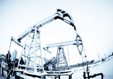 Two Oil Pump Royalty Free Stock Photo