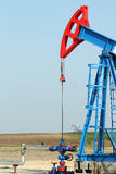 Two oil pump jack Royalty Free Stock Photos
