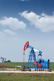 Two oil pump jack Royalty Free Stock Photo