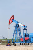 Two oil pump jack Stock Photo