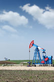 Two oil pump jack Stock Images