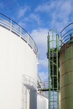 Two oil tanks Stock Photography