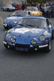 Two old Alpine Renault Stock Photography