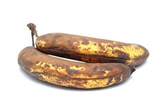 Two old bananas Royalty Free Stock Photos