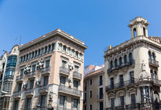 Two Old Barcelona Hotels Royalty Free Stock Photo