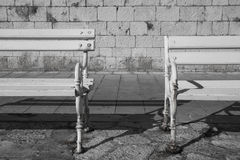 Two old benches Stock Photography