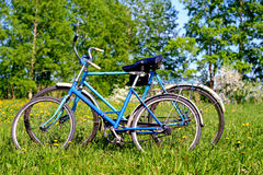 Two old bicycle Stock Image