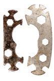 Two old bike repair wrenches Stock Image