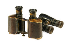Two old binoculars Stock Images