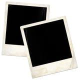 Two old blank polaroids Stock Photos