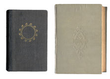 Two Old Book Covers Royalty Free Stock Photos