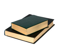 Two old books. Isolated on white background Stock Photography