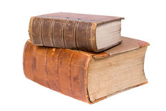 Two old books royalty free stock photo
