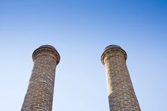 Two old brick chimney Stock Images