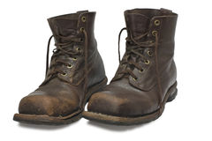 Two old brown boots Royalty Free Stock Image