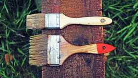 Two old brushes Royalty Free Stock Image