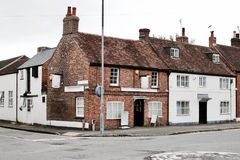 Two old buildings. Near the road in Newport Pagnell Town Centre. Buckinghamshire Stock Images