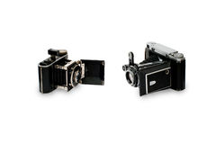 Two old cameras Stock Images