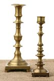 Two old candlesticks Stock Photo