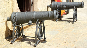 Two old canons Royalty Free Stock Photos