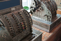 Two old cash registers Royalty Free Stock Photo