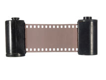 Two old cassettes with photographic film Stock Photography